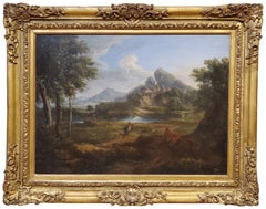 17th Century Oil Painting of a Roman Landscape Attributed to Gaspard Dughet