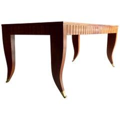Attributed to Gio Ponti Dining Table Desk Mahogany, Italian, circa 1940