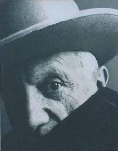 Picasso, Cannes 1957 Spain, B&W print  Attributed to Irving Penn, Framed