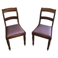 Attributed to Jeanselme, Pair of Charles the Xth Rosewood and Lemon Tree Chairs
