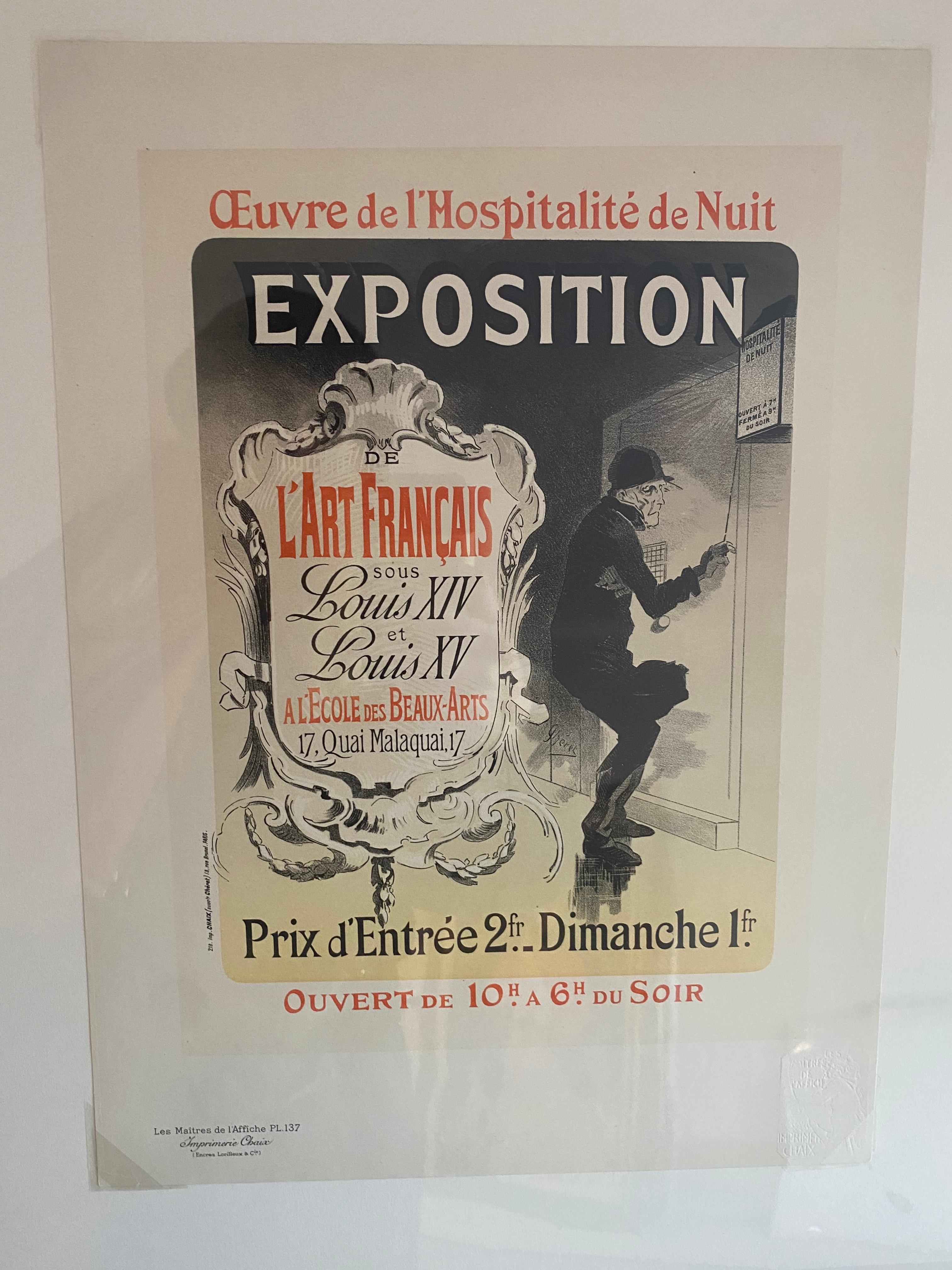 """""""Oeuvre de l'Hospitalite de Nuit"""" from Les Maitres de l'Affiche"""