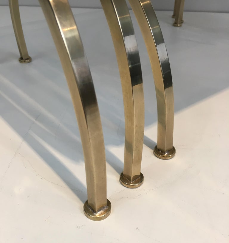 Set of 3 Brass Nesting Tables  For Sale 5