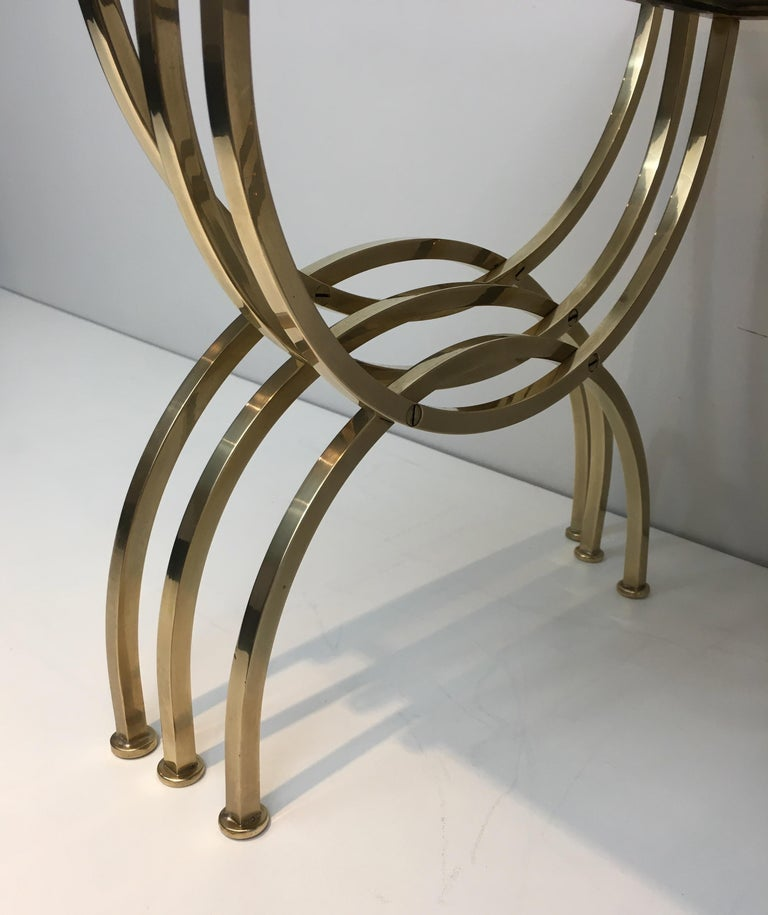 Set of 3 Brass Nesting Tables  For Sale 6