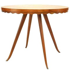 Attributed to Osvaldo Borsani, 1940s Cherrywood Round Dining Table