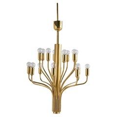 Attributed to Staff Leuchten, Vintage Brass Chandelier