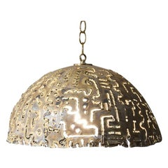 Attributed to Tom Green for Feldman Brutalist Pendant Light