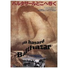 Au Hasard Balthazar R1970s Japanese B5 Chirashi Flyer