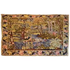"""667 - """"Au Petit Point"""" Textile, Aubusson, 19th Century"""