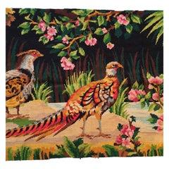 """""""Au Petit Point"""" Textile, Aubusson, 19th Century"""