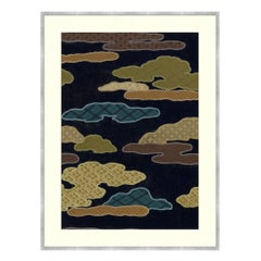 Aubergine Clouds Japanese Textile Print by CuratedKravet