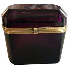 Aubergine Murano Glass Box