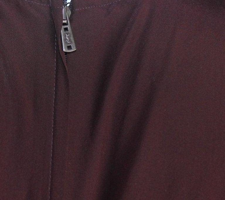 Women's Aubergine Yves Saint Laurent by Tom Ford 2002 YSL Tulle Silk Jacket Blazer For Sale