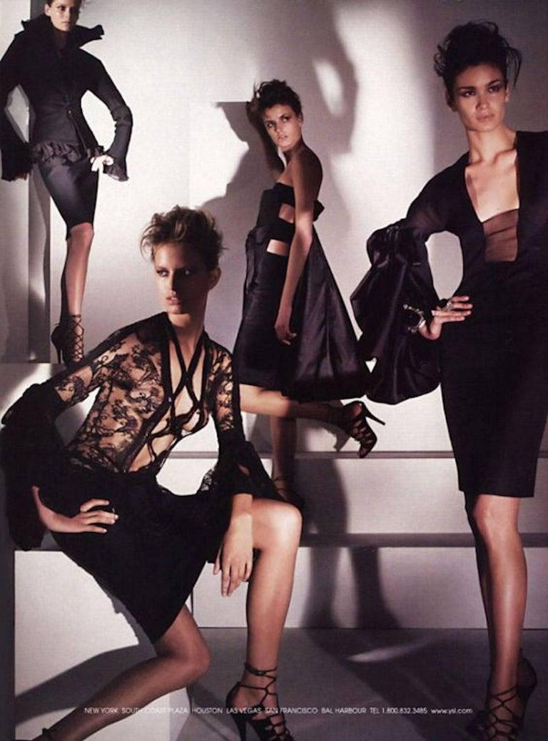 Aubergine Yves Saint Laurent by Tom Ford 2002 YSL Tulle Silk Jacket Blazer For Sale 2