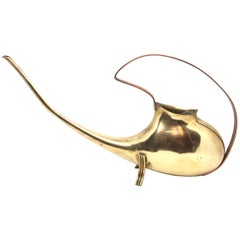 Mid-Century Modern Brass Copper Watering Can, 1950s