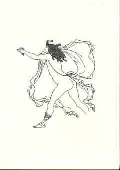 Apollo Pursuing Daphne - Original Lithograph by A. Beardsley - 1970s