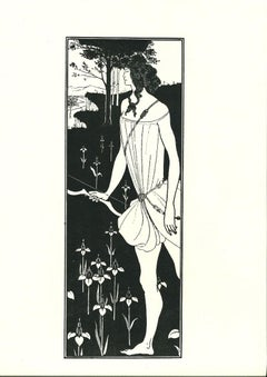 Atalanta - Original Lithograph by A. Beardsley - 1970s