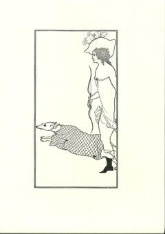 Atlanta and the Dog - Original Lithograph after Aubrey Beardsley - 1970