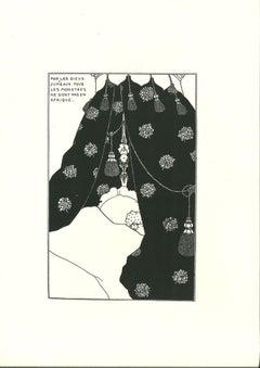 Billet-Doux (L'incomunicabilité) - Original Lithograph after A. Beardsley - 1970