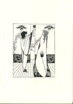 Comment Tristan but le Philtre d'Amour - Lithograph after A.Beardsley - 1970