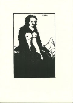 Erda - Original Lithograph by A. Beardsley - 1970s