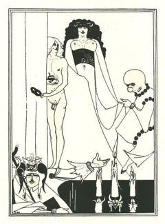 Figure - Original Lithograph by A. Beardsley - 1970