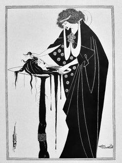 Illustration to Salomé - Rare Book Engraved by A. V. Beardsley - 1907