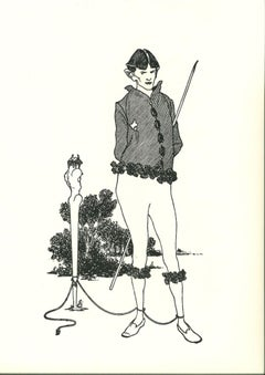 La Marque du Pied (Autoportrait) - Original Lithograph after A. Beardsley - 1970