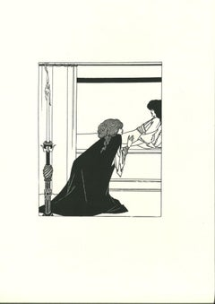L'Amour - Original Lithograph after Aubrey Beardsley - 1970