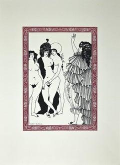Le Serment - Original Lithograph after Aubrey Beardsley - 1970