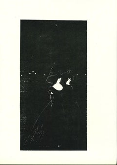 Les Passades - Original Lithograph by A. Beardsley - 1970s