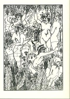 L'Orgie - Original Lithograph after Aubrey Beardsley - 1970