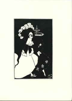 Messalina and her Companion - Original Lithograph by A. Beardsley - 1970s