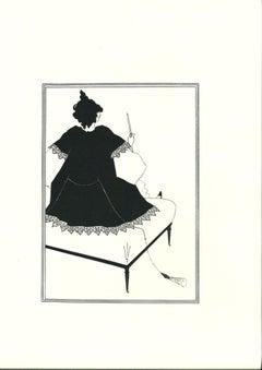 Salomé Maitresse d'Orchestre - Original Lithograph after A. Beardsley - 1970
