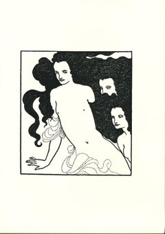The Comedy of the Rhinegold - Original Lithograph by A. Beardsley - 1970s