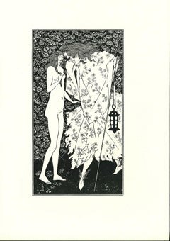 The Confidence - Original Lithograph after  Aubrey Beardsley - 1970