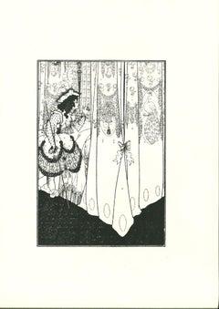 The Dream - Original Lithograph by A. V. Beardsley - 1970