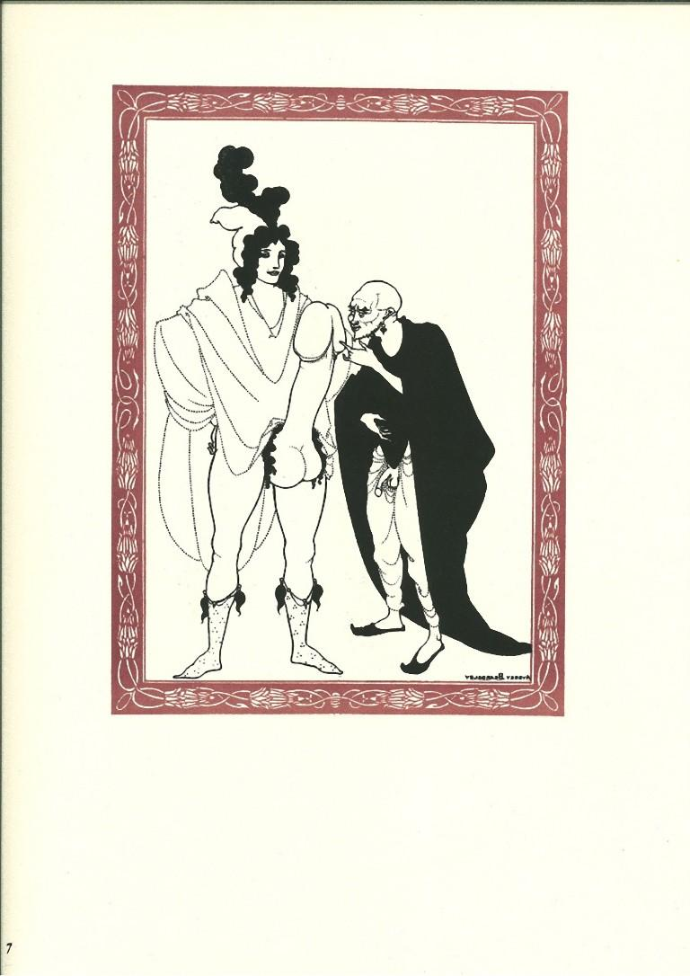 The Examination of the Herald - Original Lithograph by Aubrey Beardsley - 1970s