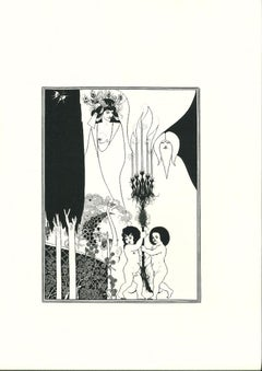 The Eyes of Herod - Original Lithograph by Aubrey Beardsley - 1970s