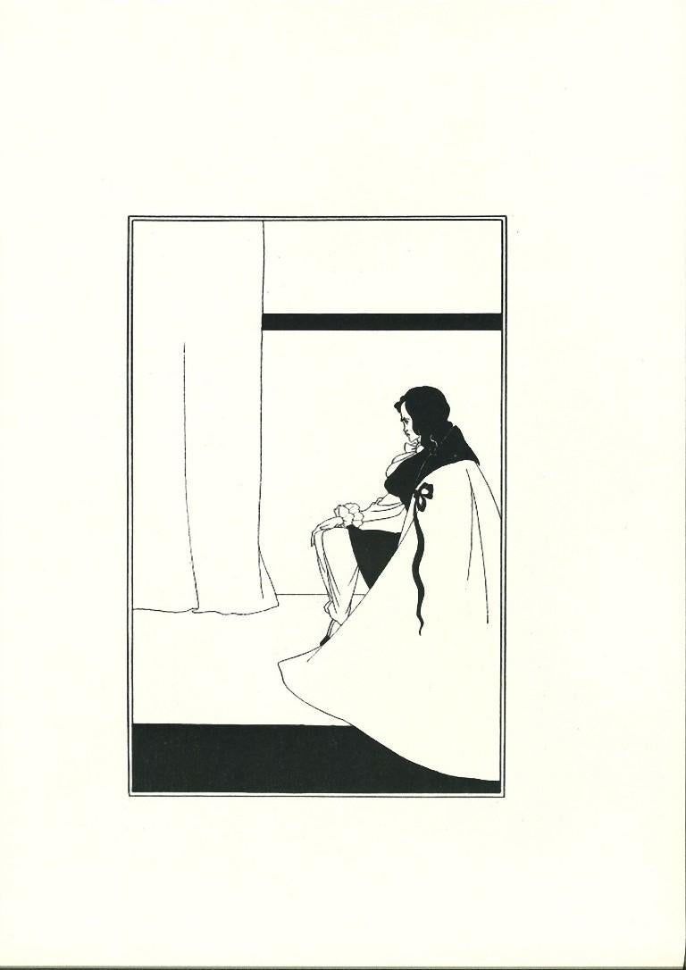 The Fall of the House of Usher - Original Lithograph by Aubrey Beardsley - 1970s