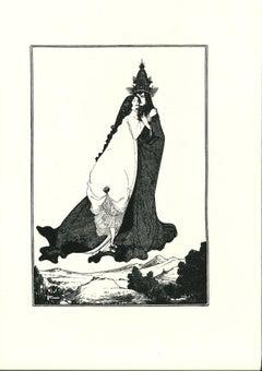 The Hug - Original Lithograph after Aubrey Beardsley - 1970