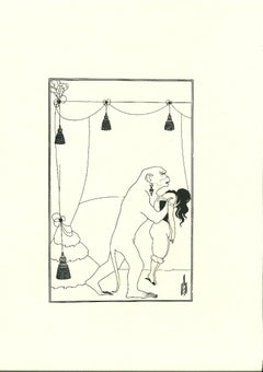 The Murders in the Rue Morgue - Original Lithograph by Aubrey Beardsley - 1970s