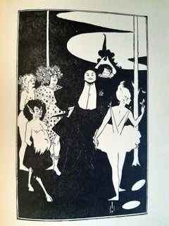 The Rape of the Lock - Rare Book Illustrated by A. V. Beardsley - 1896