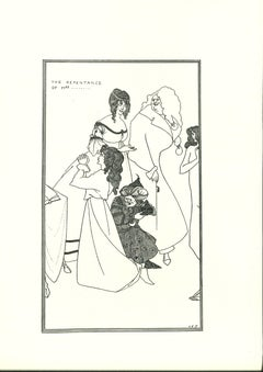 The Repentance of Mrs... - Original Lithograph by Aubrey Beardsley - 1970
