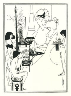 The Toilette of Salome - Original Lithograph by Aubrey Beardsley - 1970