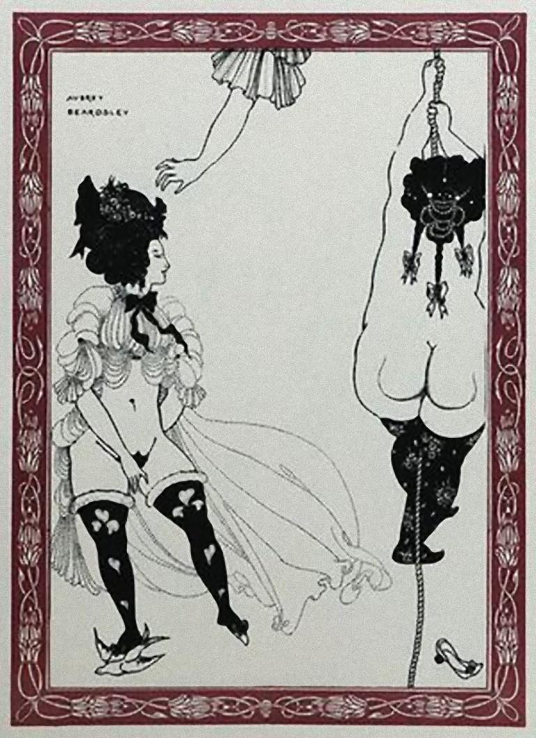 Two Athenian Women - Original Lithograph by Aubrey Beardsley - 1970s