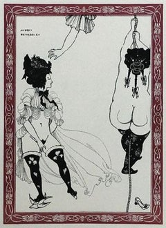 Two Athenian Women - Original Lithograph by Aubrey Beardsley - 1970s