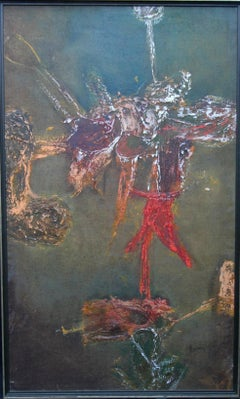 Kunaima 1960 - Abstract Expressionist art oil painting Guyanese artist