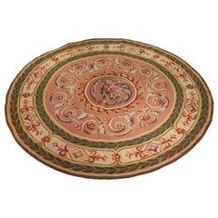 880 - Aubusson Circular Rug, 19th Century