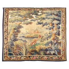 897 -  Aubusson French Antique Tapestry, 19th Century