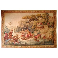 Aubusson French Antique Tapestry, 19th Century
